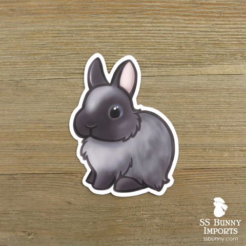 Smoke pearl dwarf rabbit sticker