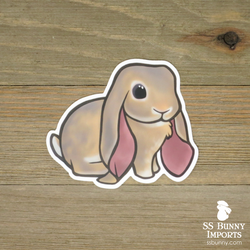 Lilac agouti English Lop rabbit sticker