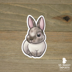 Smutty sallander rabbit sticker