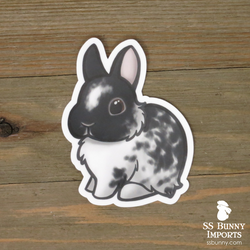Broken blanket black dwarf bunny sticker