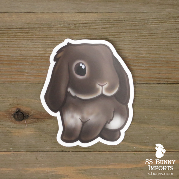 Chocolate otter lop sticker