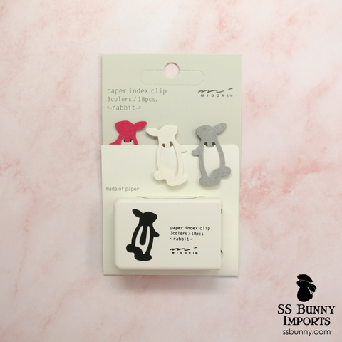 Rabbit paper index clips
