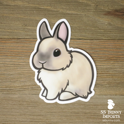 Frosty dwarf bunny sticker