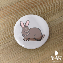 Agouti Flemish Giant pinback button