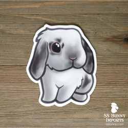 Charlie blue and black lop rabbit sticker