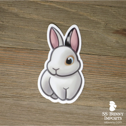 Charlie Vienna-marked Japanese harlequin bunny sticker