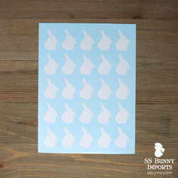 "25x 1"" half lop bunny silhouette decals"