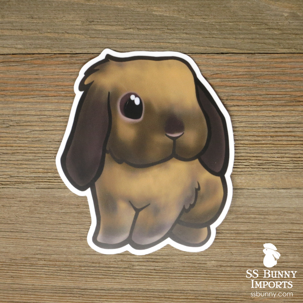 Black tort lop bunny sticker - Linder