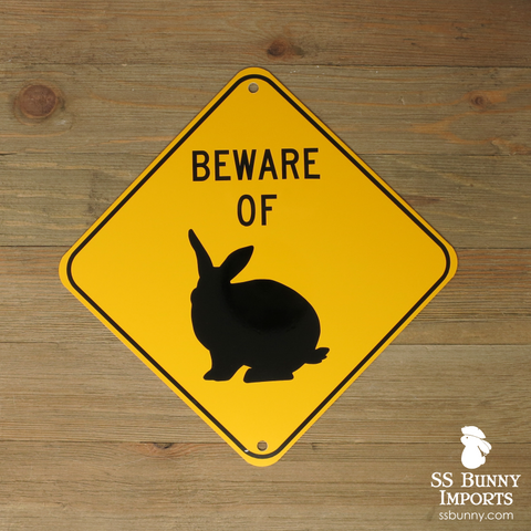 Beware of Bunny sign