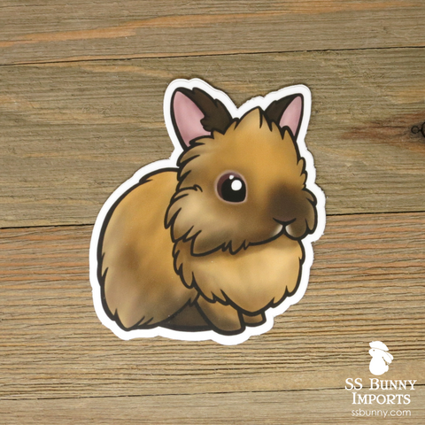 Chocolate tort lionhead sticker