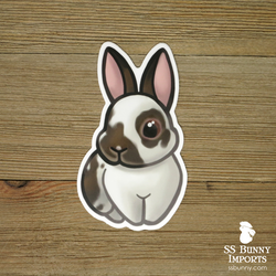 Broken agouti rabbit sticker