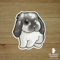 Broken smoke pearl lop rabbit sticker