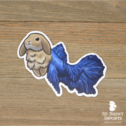 Betta fish lop merbun sticker