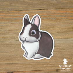 Blitz dwarf bunny sticker -- Vienna-marked agouti