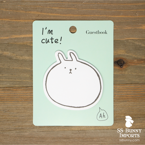 Rabbit sticky memo notes - round rabbit