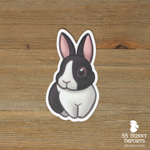 Black Dutch rabbit sticker