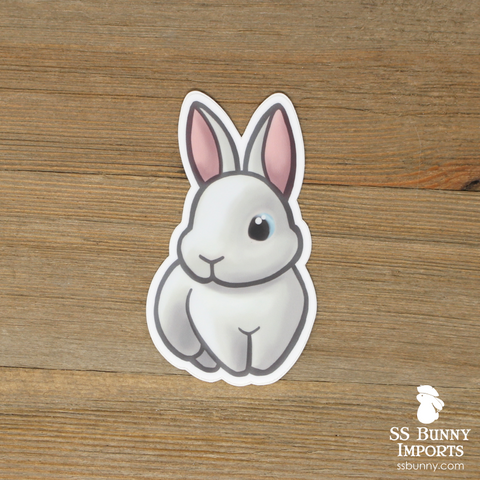 Blue-eyed white rabbit sticker
