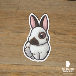 Chocolate English Spot bunny sticker