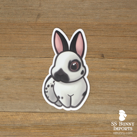 Black English Spot bunny sticker