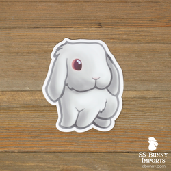 Red-eyed white lop rabbit sticker