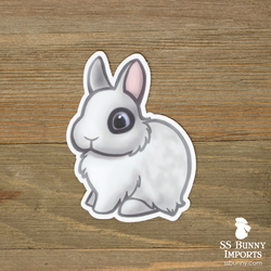 Dwarf Hotot rabbit sticker