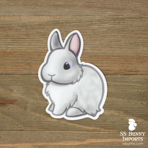 Blue-eyed white dwarf rabbit sticker