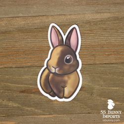 Chocolate Japanese harlequin rabbit sticker
