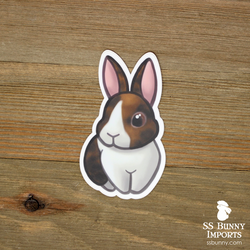 Harlequin Dutch bunny sticker