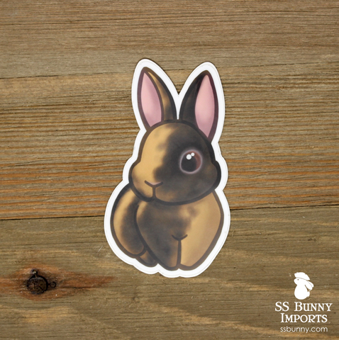 Black Japanese harlequin rabbit sticker