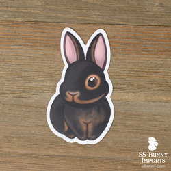 Black tan rabbit sticker