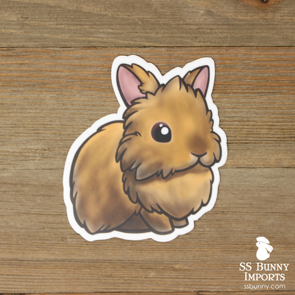 Orange lionhead sticker