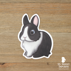 Black Vienna-marked dwarf rabbit sticker