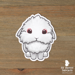 Red-eyed white lionlop sticker