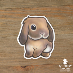 Lilac agouti lop rabbit sticker
