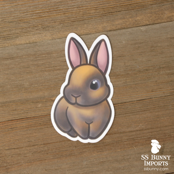 Blue tort rabbit sticker