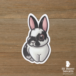Broken black rabbit sticker