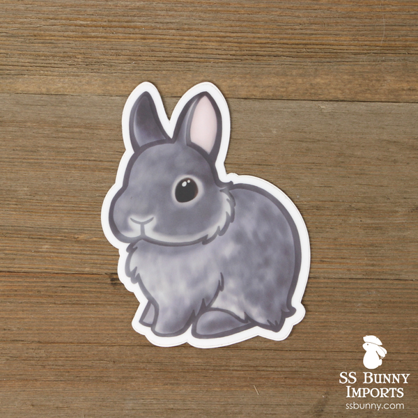 Blue chinchilla dwarf rabbit sticker