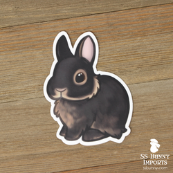 Black tan dwarf rabbit sticker