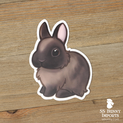Siamese sable dwarf bunny sticker