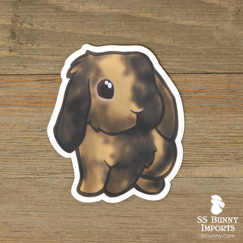 Black Japanese harlequin lop rabbit sticker