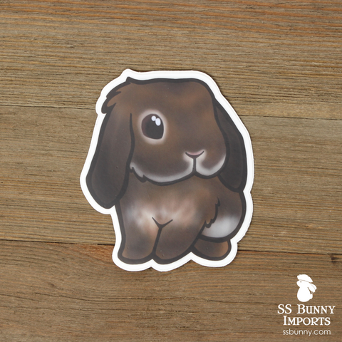 Agouti lop rabbit sticker
