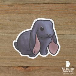 Blue English Lop rabbit sticker