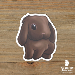 Chocolate lop sticker