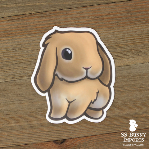 Cream lop rabbit sticker