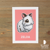 Single lionhead rabbit print - customized color