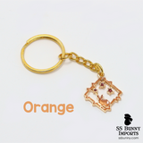 Star bunny window gold keychain
