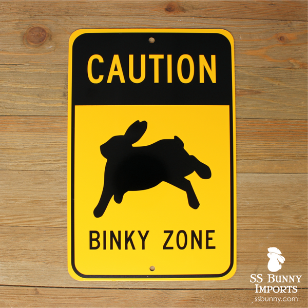 Caution, Binky Zone sign