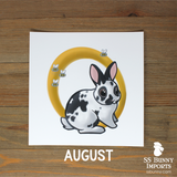 2021 monthly bunny calendar art prints
