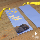 Black tort lop bunny bookmark - fell asleep here...