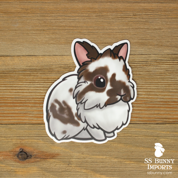 Broken brown lionhead sticker
